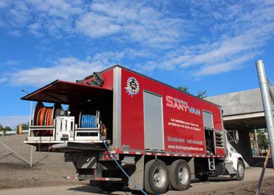Camion Groupe Sanyvan twelve - Notre flotte - Montréal - Drainage québécois