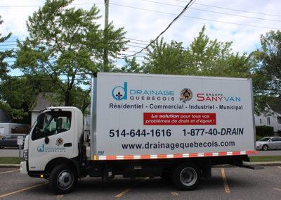 Camion Groupe Sanyvan ten - Notre flotte - Montréal - Drainage québécois