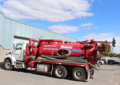 Camion Groupe Sanyvan eight- Notre flotte - Montréal - Drainage québécois