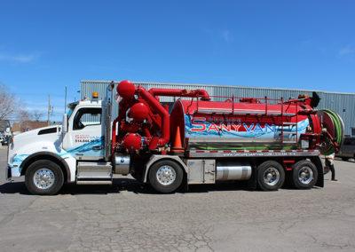 Camions Sanyvan - Notre flotte - Montréal - Drainage québécois