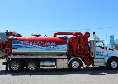 Le camion - Sanyvan - Notre flotte - Montréal - Drainage québécois